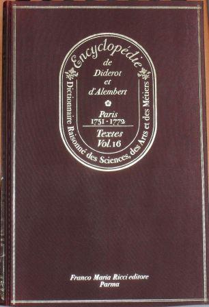 Encyclopédie, Tome XVI