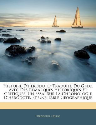 Histoire D'Hrodote,