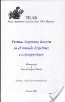 Prensa, impresos, lectura en el mundo hispánico contemporáneo