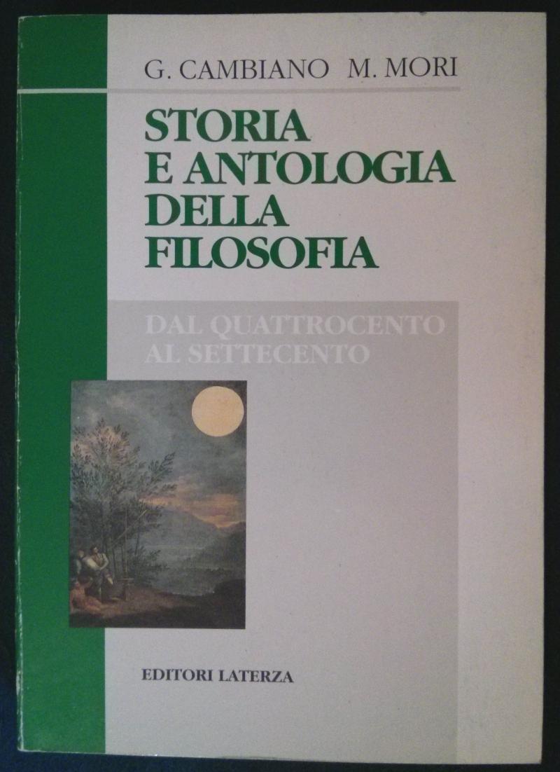 Storia e antologia della filosofia