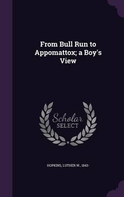 From Bull Run to Appomattox; A Boy's View