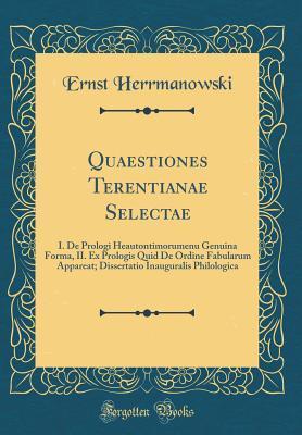 Quaestiones Terentianae Selectae