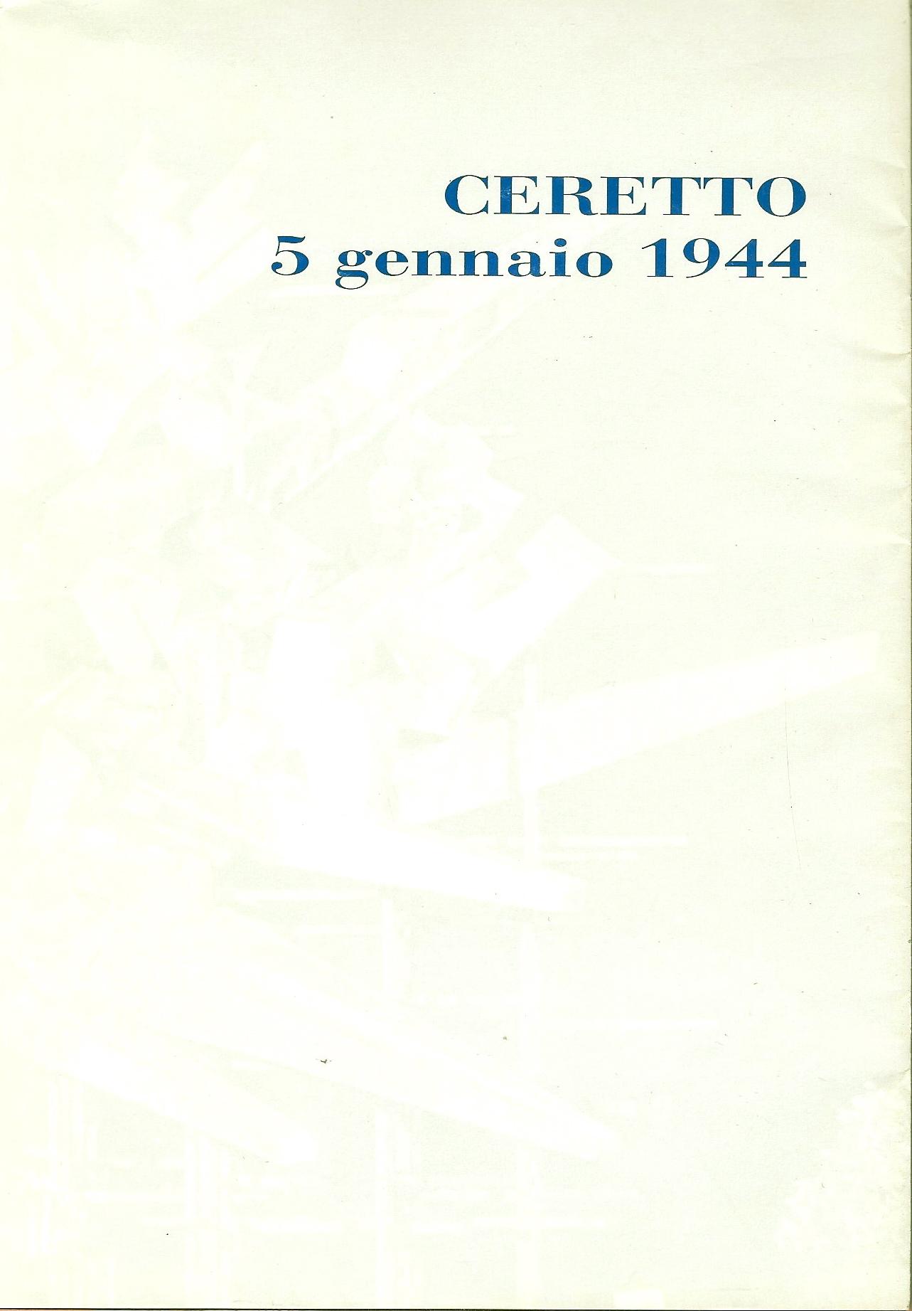 Ceretto 5 gennaio 1944