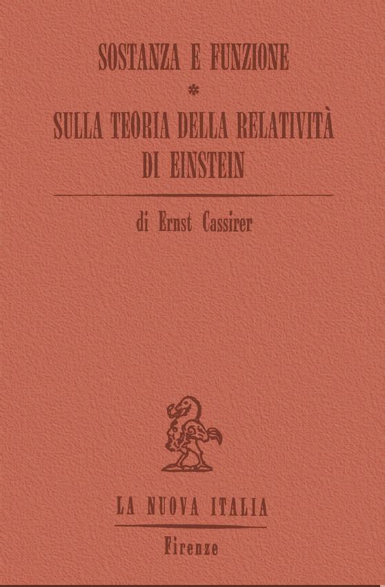 Sostanza e funzione; Sulla teoria della relatività di Einstein