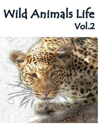 Wild Animals Life Adult Coloring Book