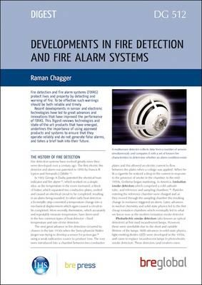 Developments in Fire Detection and Fire Alarm Systems