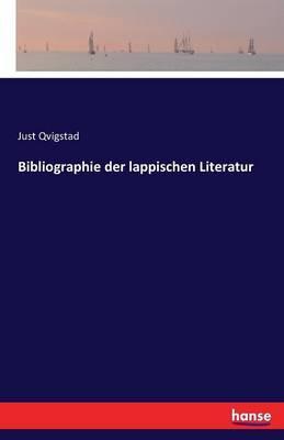 Bibliographie der lappischen Literatur