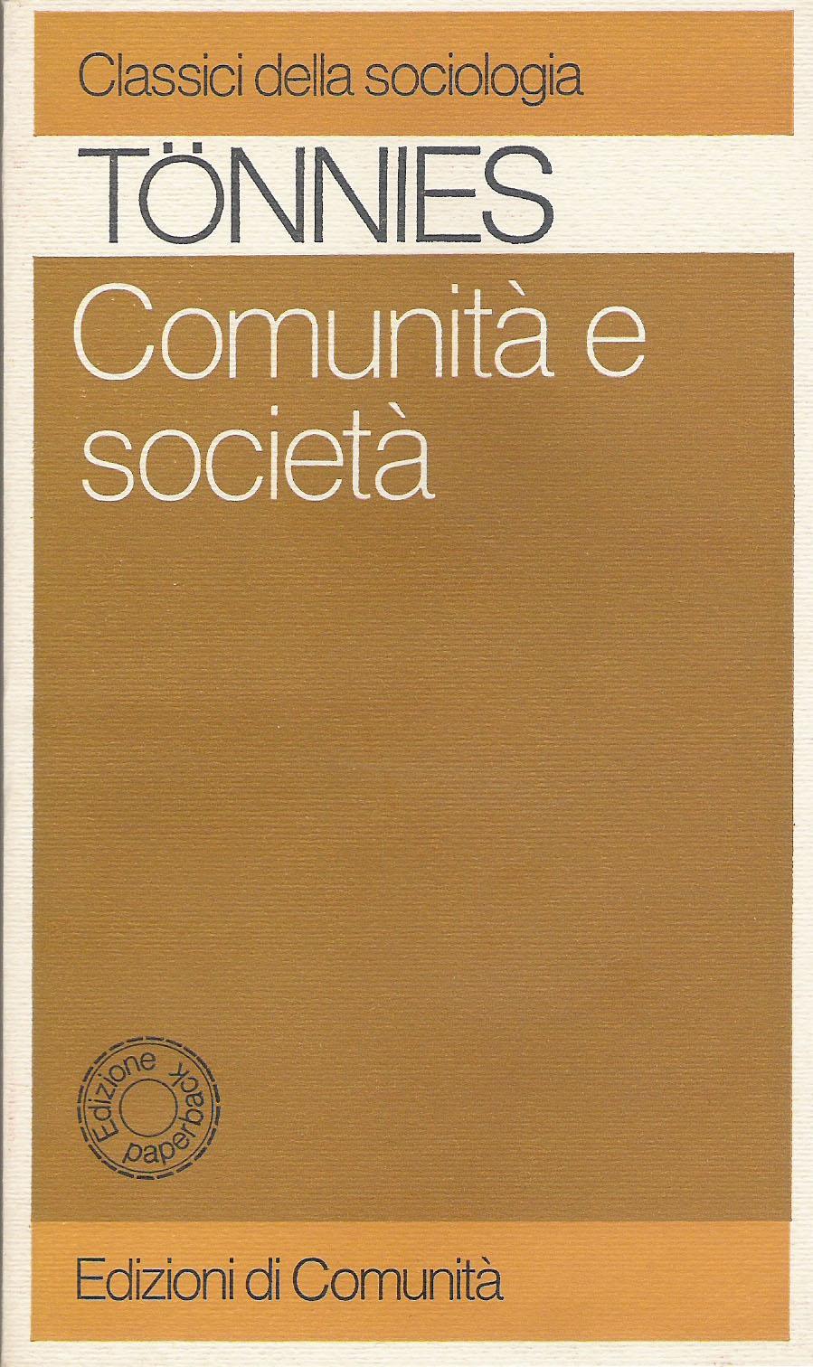Comunità e società