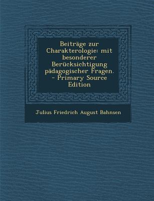 Beitrage Zur Charakterologie
