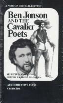 Ben Jonson and the cavalier poets;