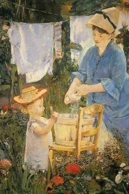 The Laundry by Edouard Manet - 1875 Journal