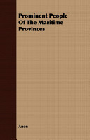 Prominent People of the Maritime Provinces