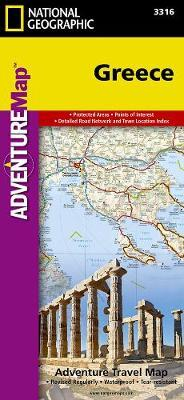 National Geographic Europa Greece Adventure Travel Map