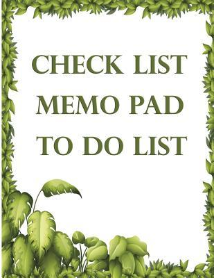 Check List Memo Pad ...