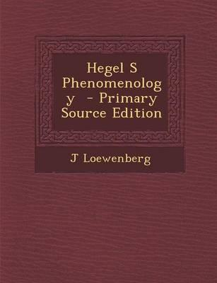 Hegel S Phenomenology