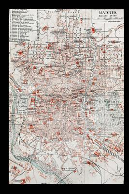 Old Map of Madrid Sp...