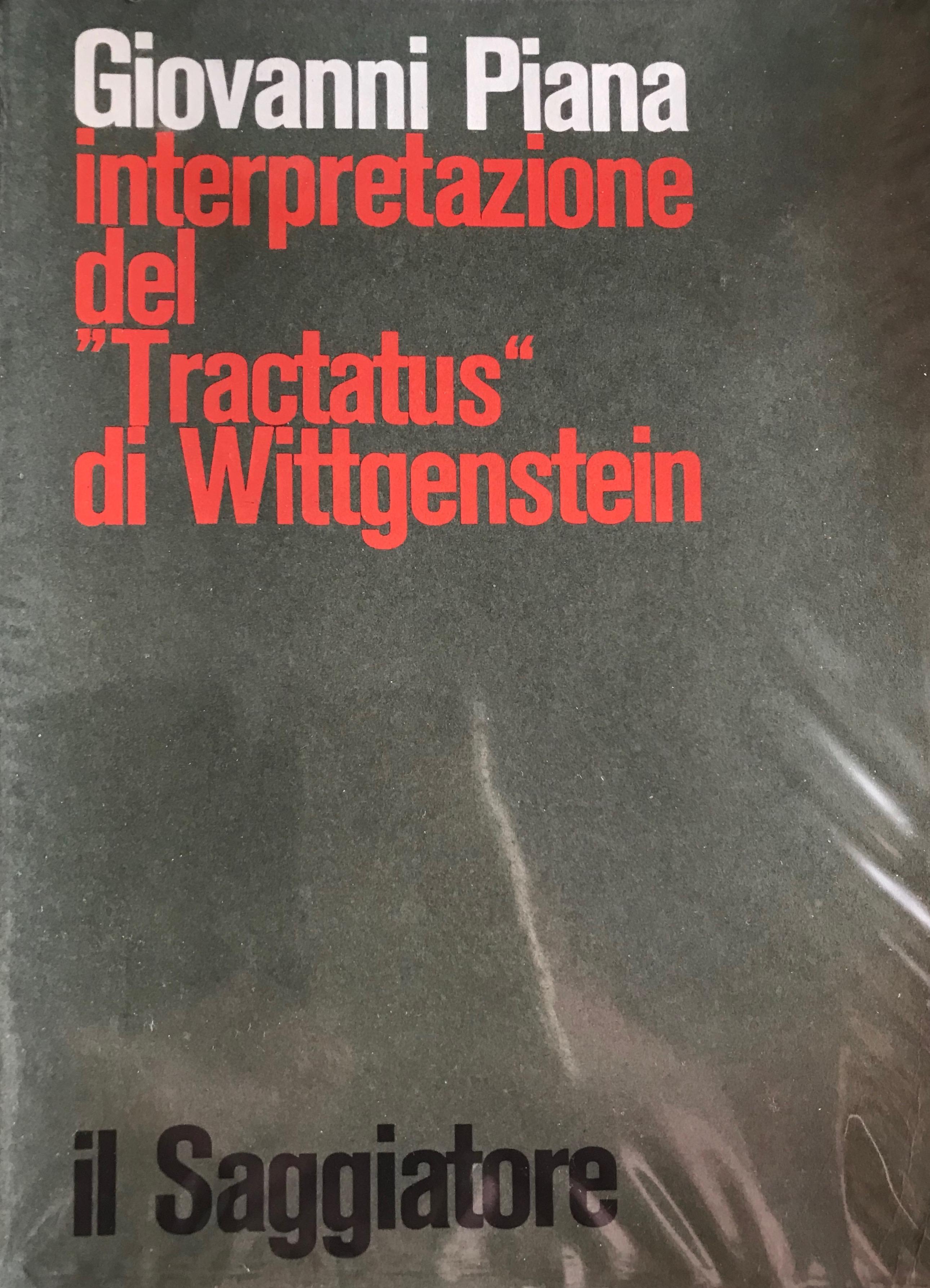 """Interpretazione del """"Tractatus"""" di Wittgenstein"""