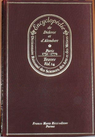 Encyclopédie, Tome XIV