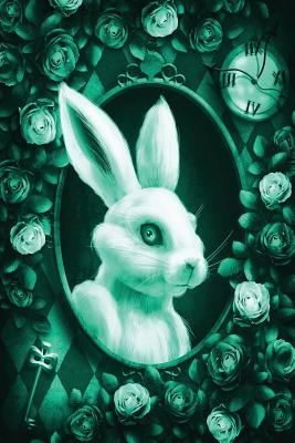 Alice in Wonderland Modern Journal Outwards White Rabbit Green