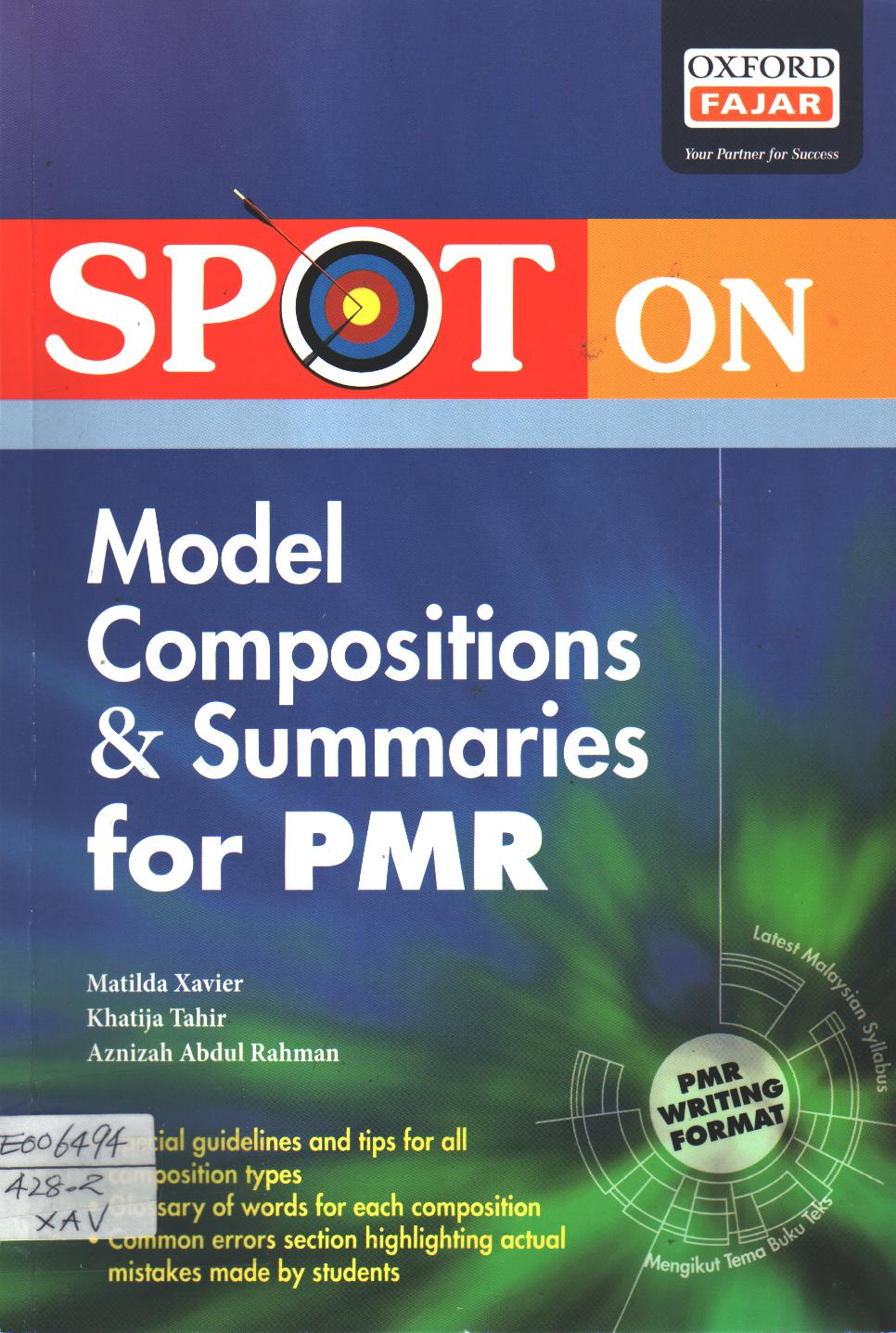Spot on Model Compositions & Summaries for PMR