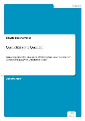 Quantität statt Qualität