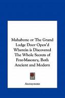 Mahabone Or the Gran...