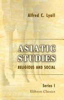 Asiatic Studies. Religious and Social. Series 1