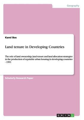 Land tenure in Developing Countries