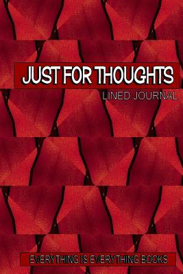 Just for Thoughts Red Basket Weave Lined Journal/Notebook