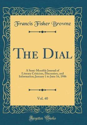The Dial, Vol. 40