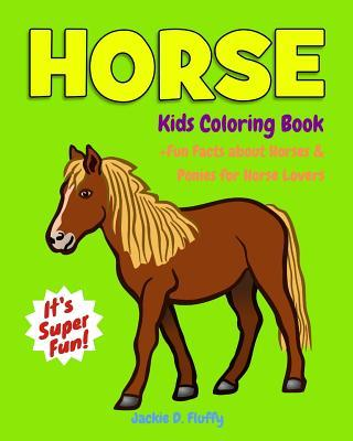 Horse Kids Coloring Book