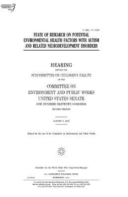 State of Research on Potential Environmental Health Factors With Autism and Related Neurodevelopment Disorders