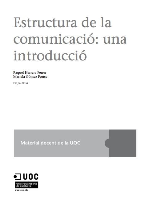 Estructura de la comunicació: una introducció