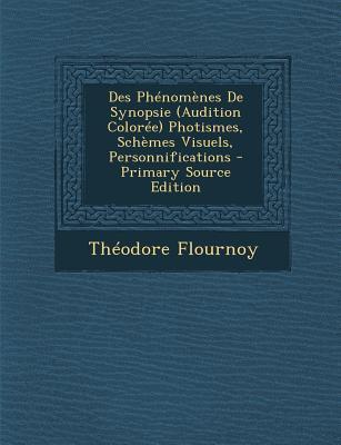 Des Phenomenes de Synopsie (Audition Coloree) Photismes, Schemes Visuels, Personnifications