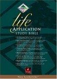 Life Application Study Bible, New Living Translation, Navy LeatherLike