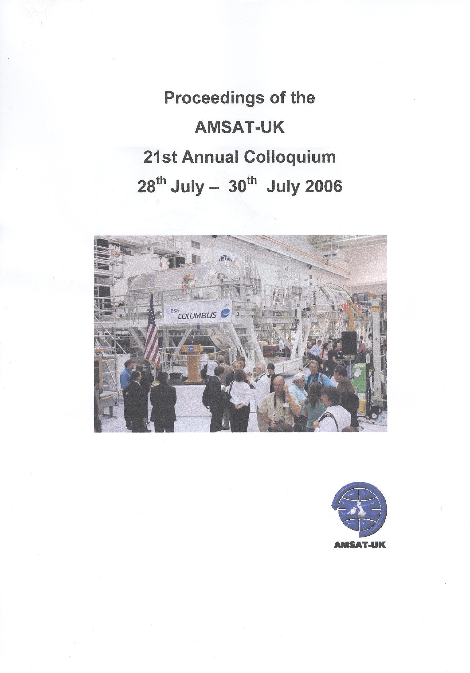 The Proceedings of the 21st AMSAT-UK Colloquium 2006