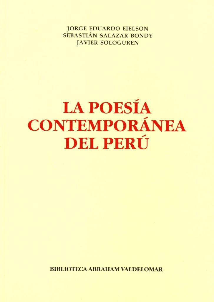 La poesía contemporánea del Perú