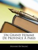 Un Grand Homme de Province Ā Paris