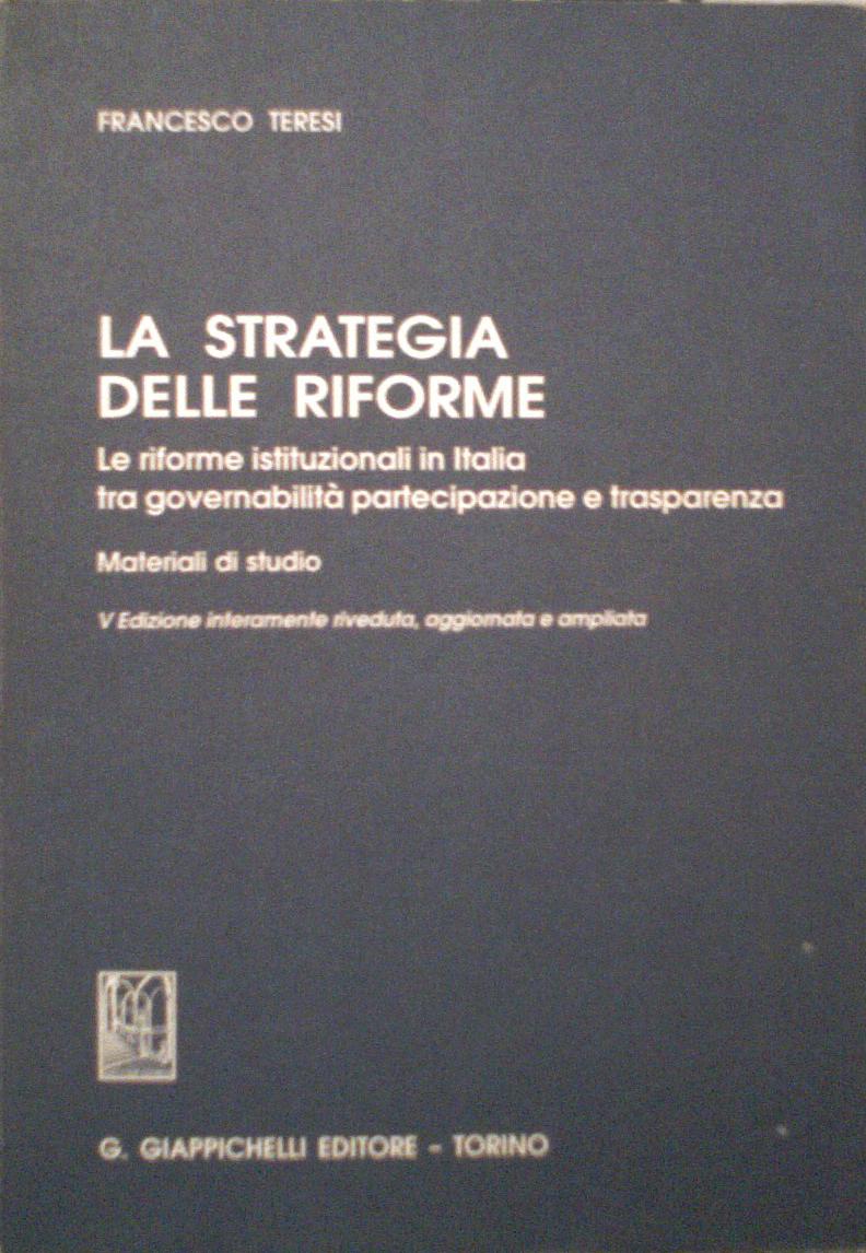 La strategia delle riforme