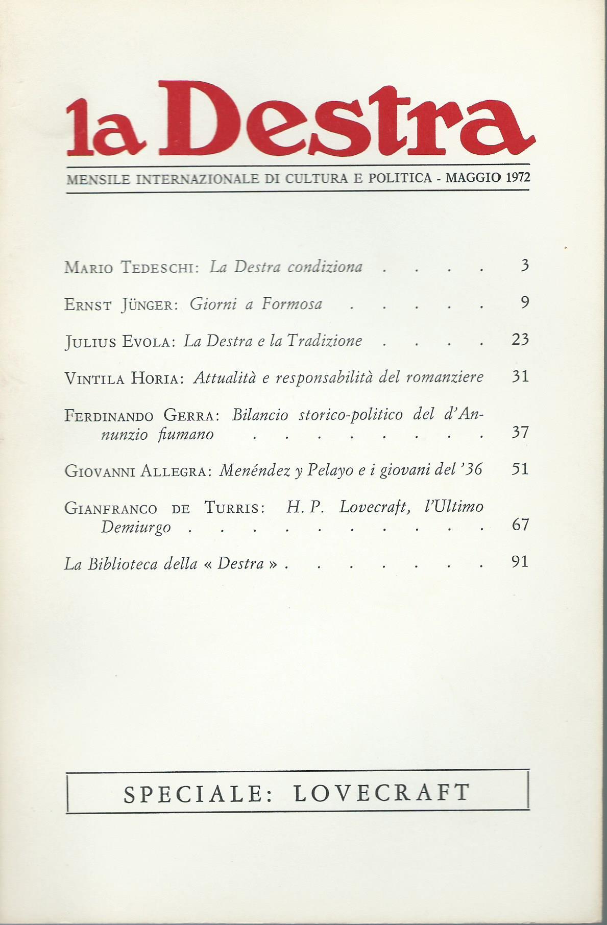 La Destra - Anno II n. 5