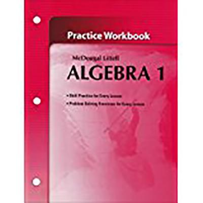 Algebra 1, Grades 9-12 Practice Workbook