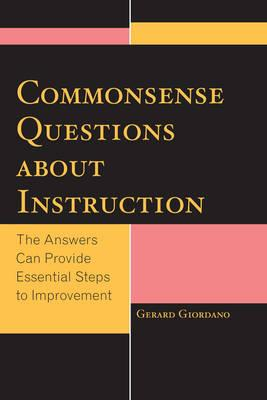 Commonsense Questions About Instruction