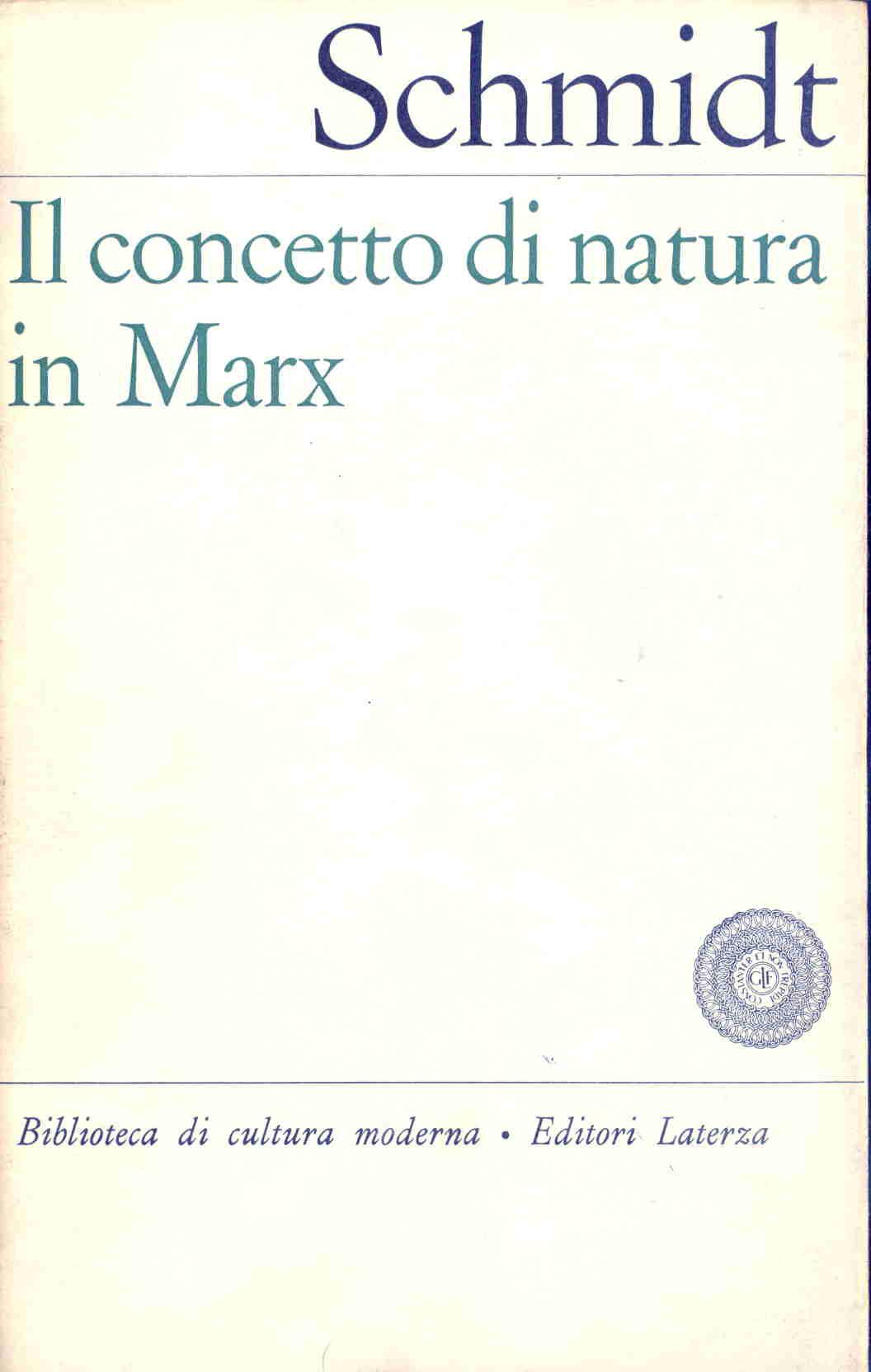Il concetto di natura in Marx