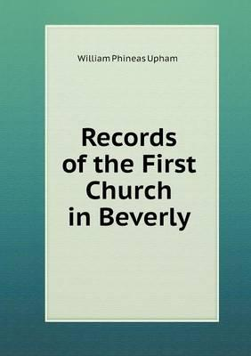 Records of the First Church in Beverly