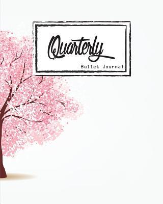 Quarterly Guided, Pink Tree,cherry Blossoms Cover Notebook
