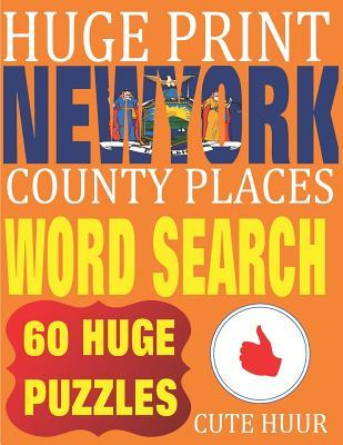Huge Print New York County Places Word Search