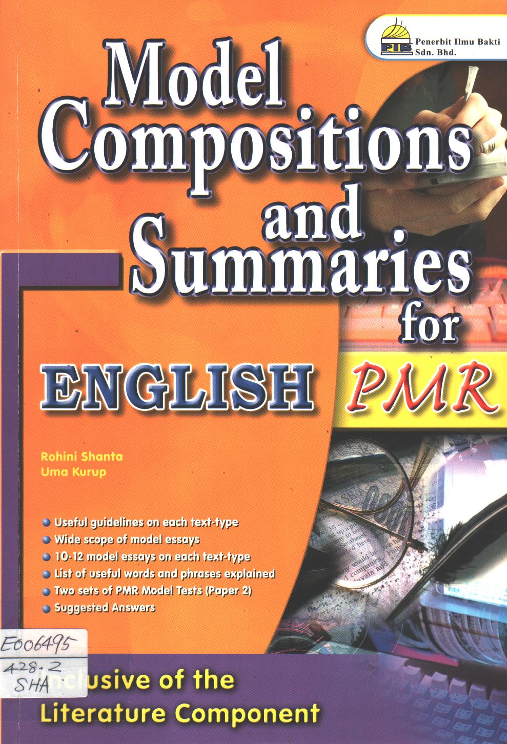 Model Compositions and Summaries for PMR