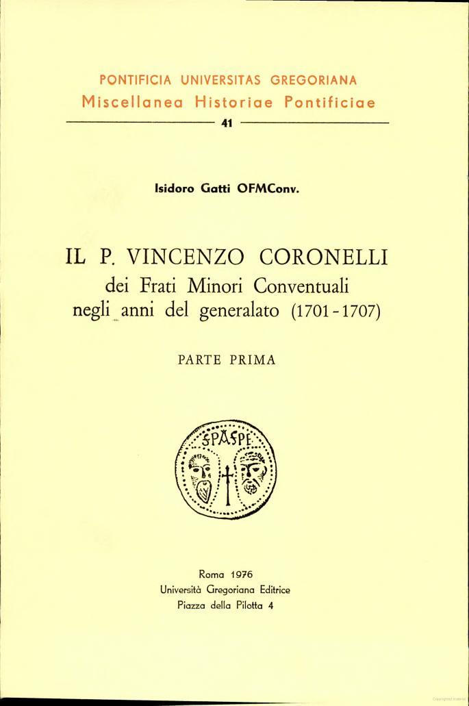 Il P. Vincenzo Coronelli