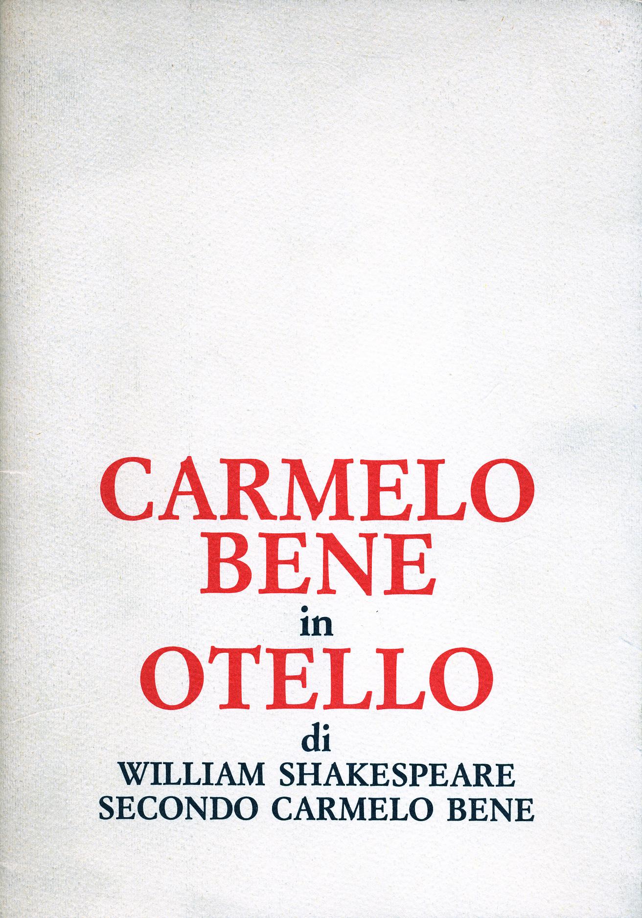 Carmelo Bene in Otel...