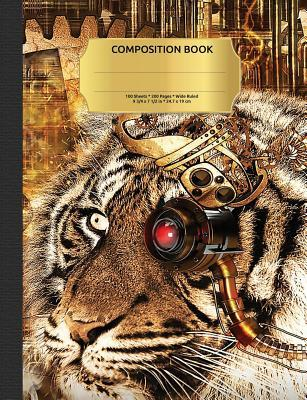 Steampunk Tiger Composition Notebook